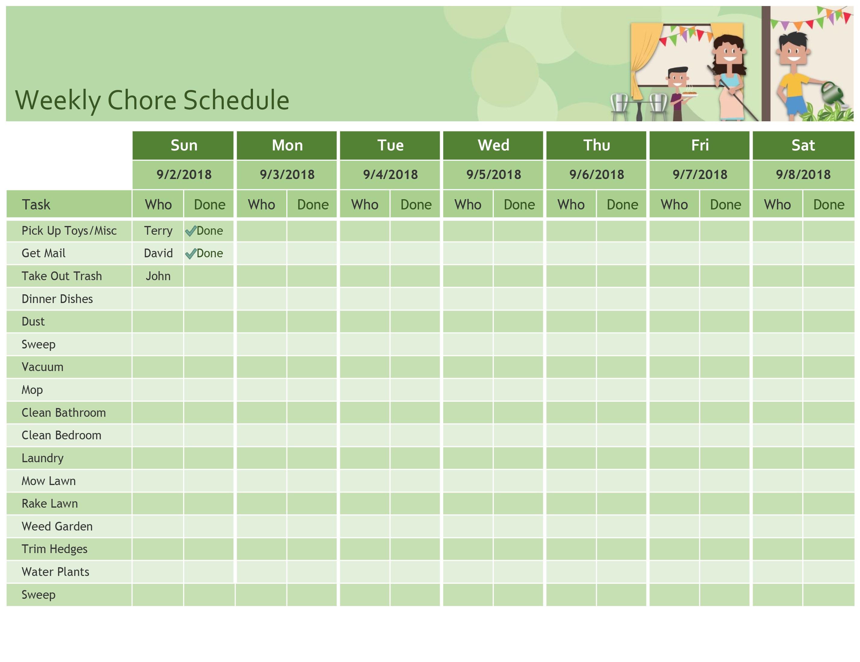Schedules - Office