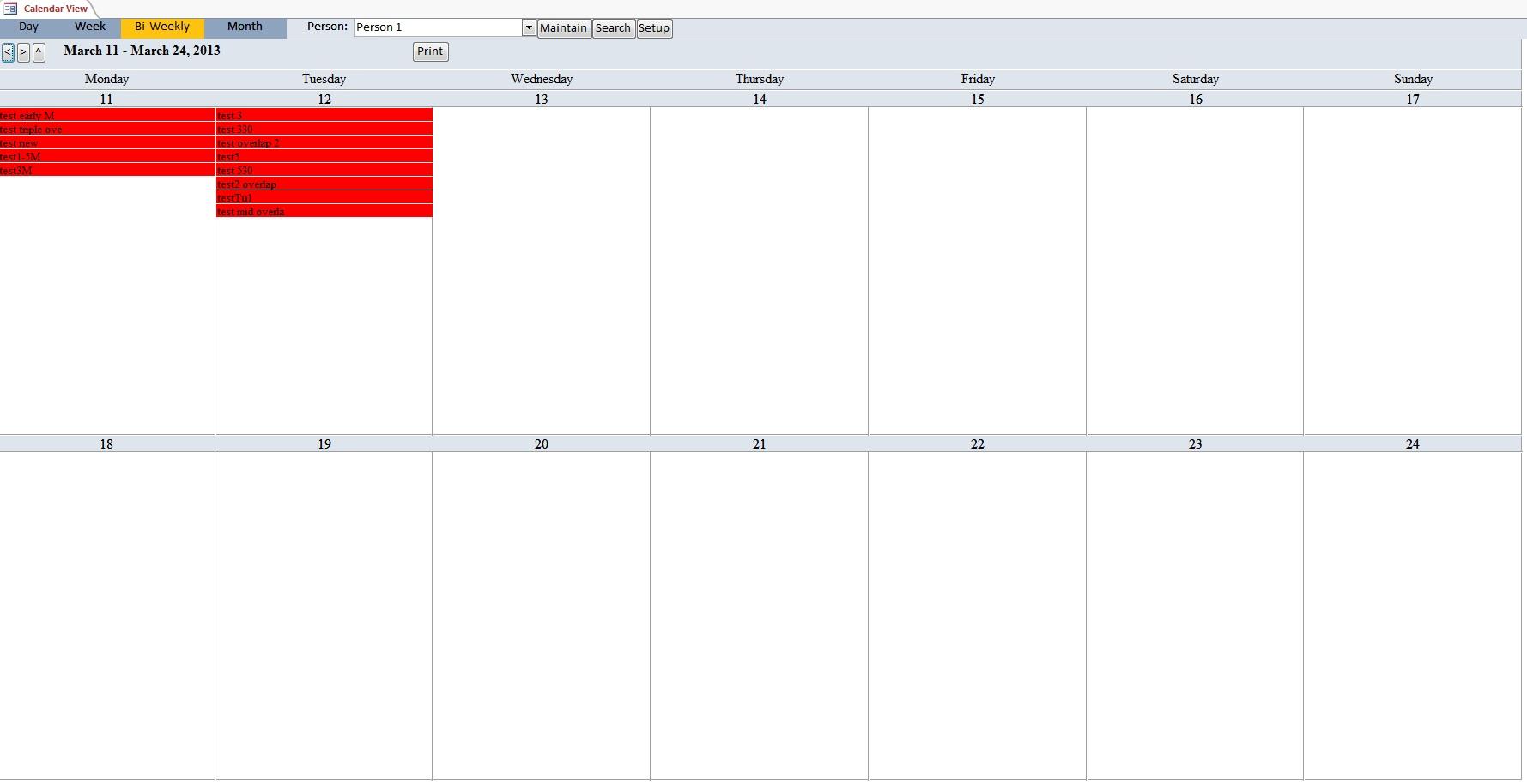 School Calendar Scheduling Template | Scheduling Database
