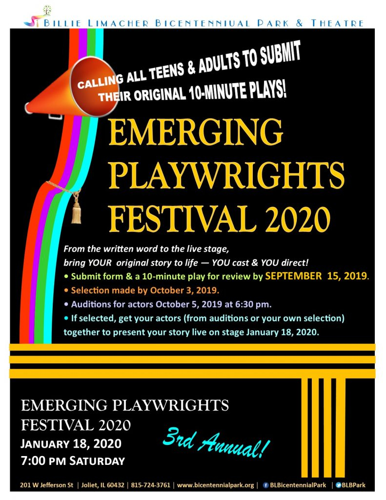 Seeking Plays For Playwright Fest 2020