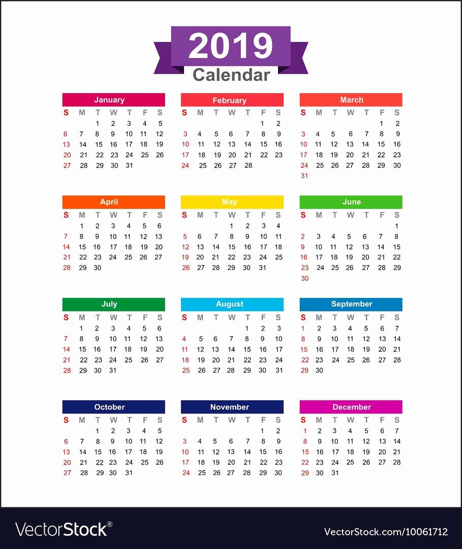 Shift Calendar 2019 2020 Calendar 2019 Only Printable Yearly