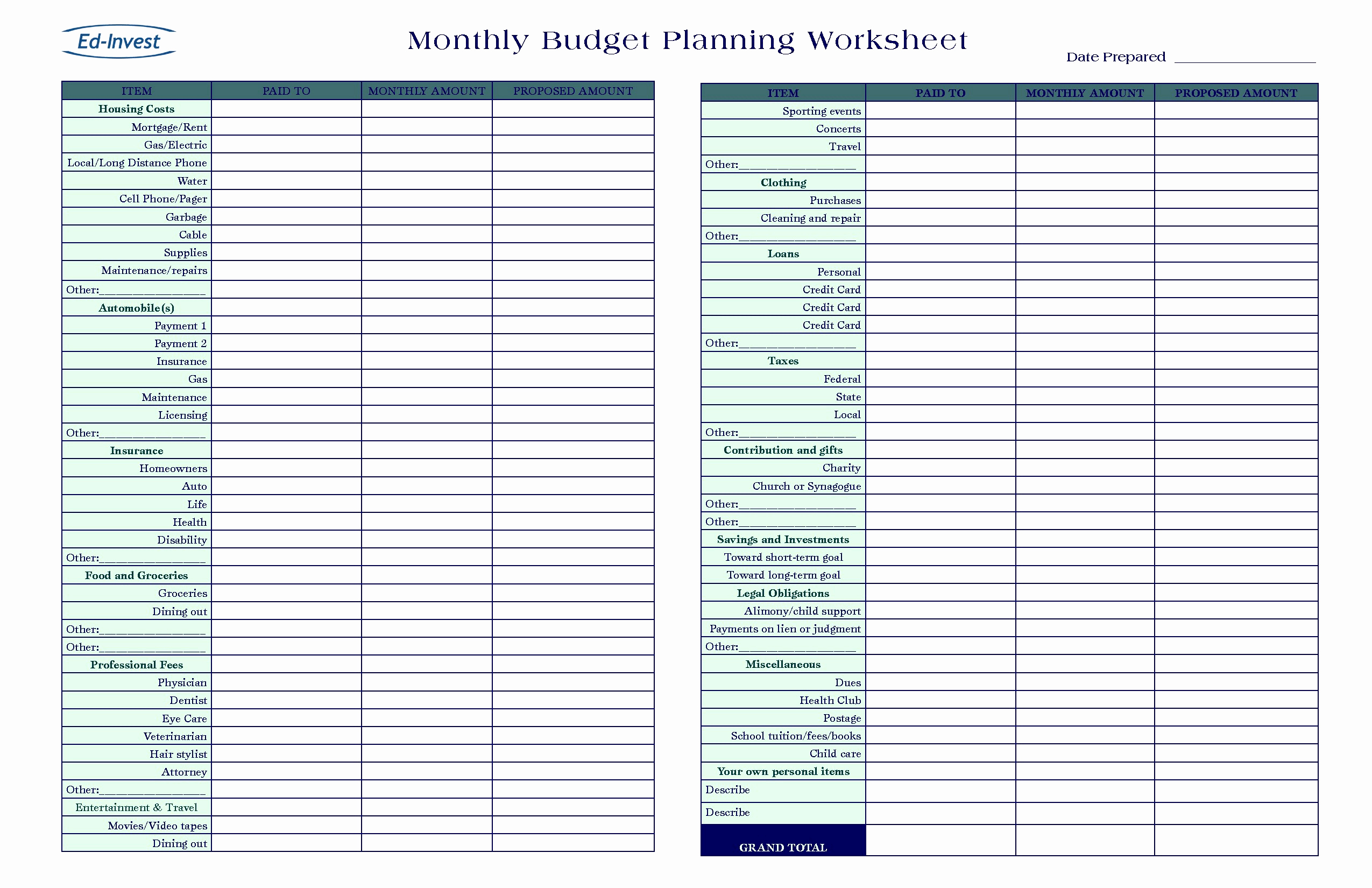 Spreadsheet To Track Expenses Template Monthly Bills And