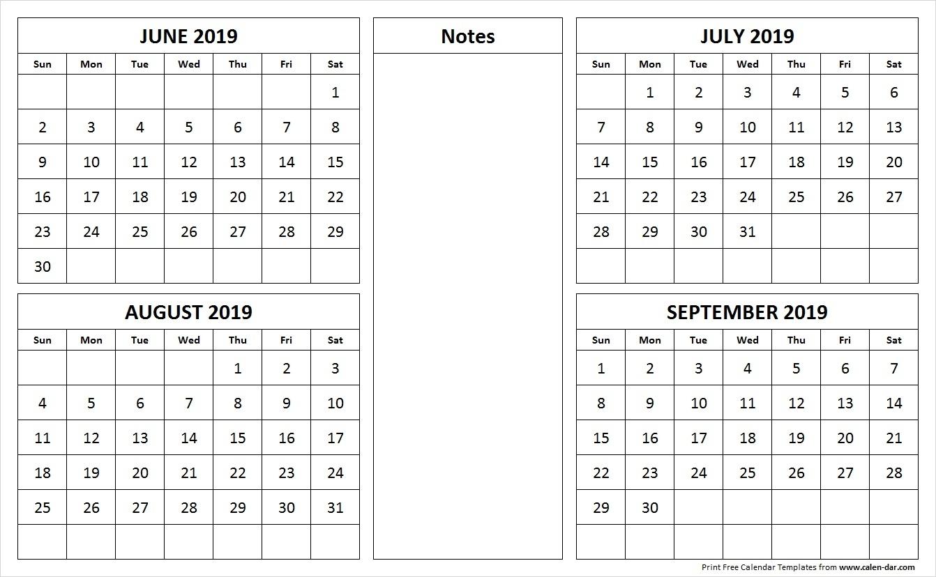 Take August To September Calendar 2019 ⋆ The Best Printable