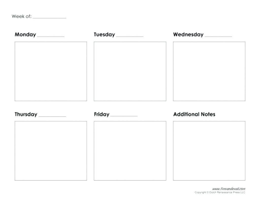 Take Blank 5 Day Calendar Printable ⋆ The Best Printable