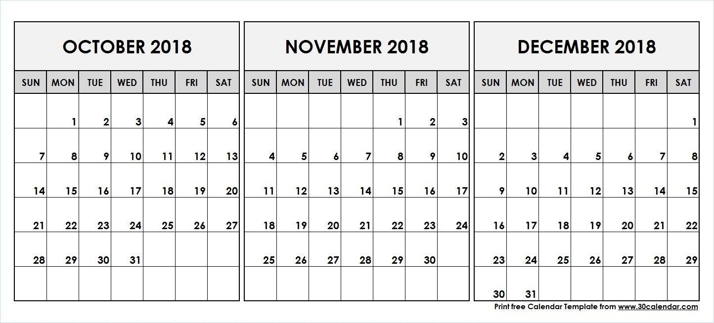 Take Calendar For October Thru December 2019 ⋆ The Best