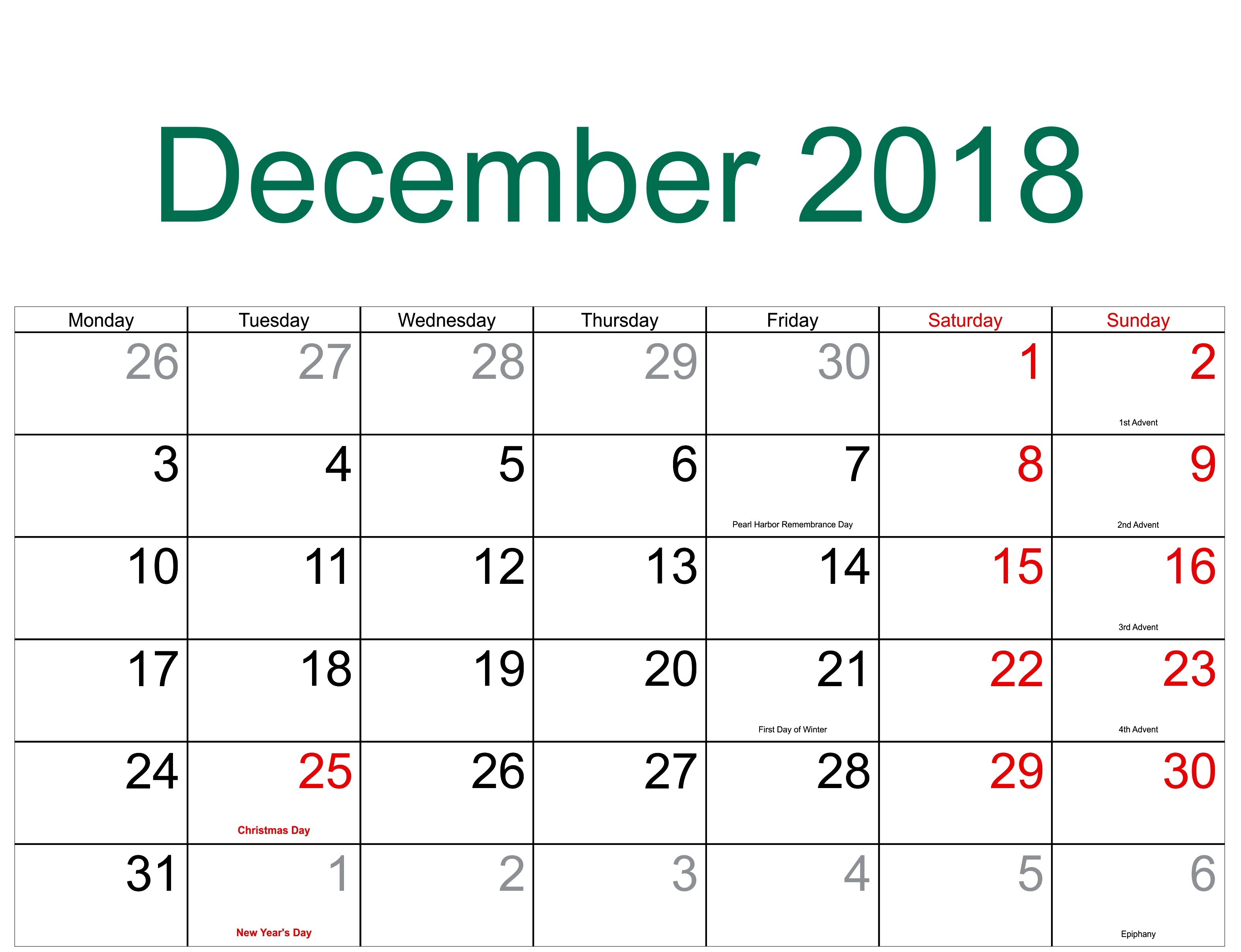 Take Daily Catholic Calendar December 2019 ⋆ The Best