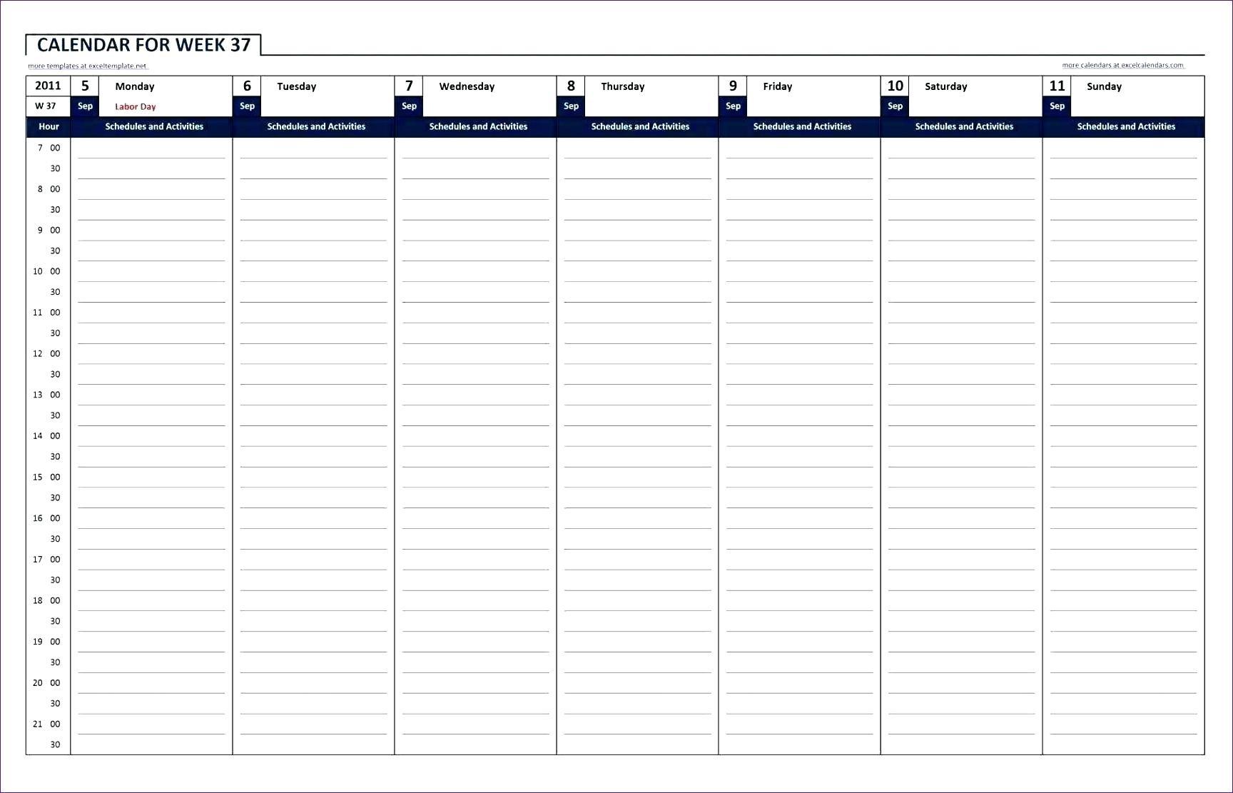 Take Hourhour Blank Calendars ⋆ The Best Printable