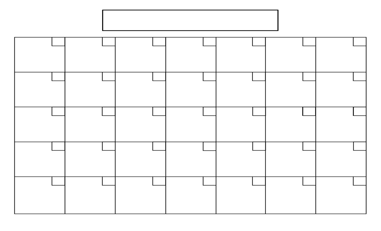 Take Printable Blank 31 Day Calendar ⋆ The Best Printable