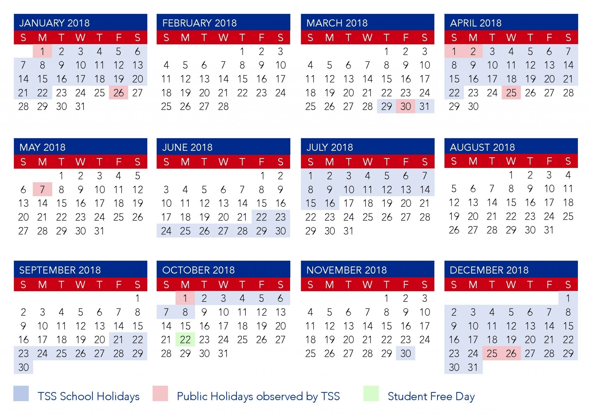 Term Calendar Dates | The Southport School 2020 School