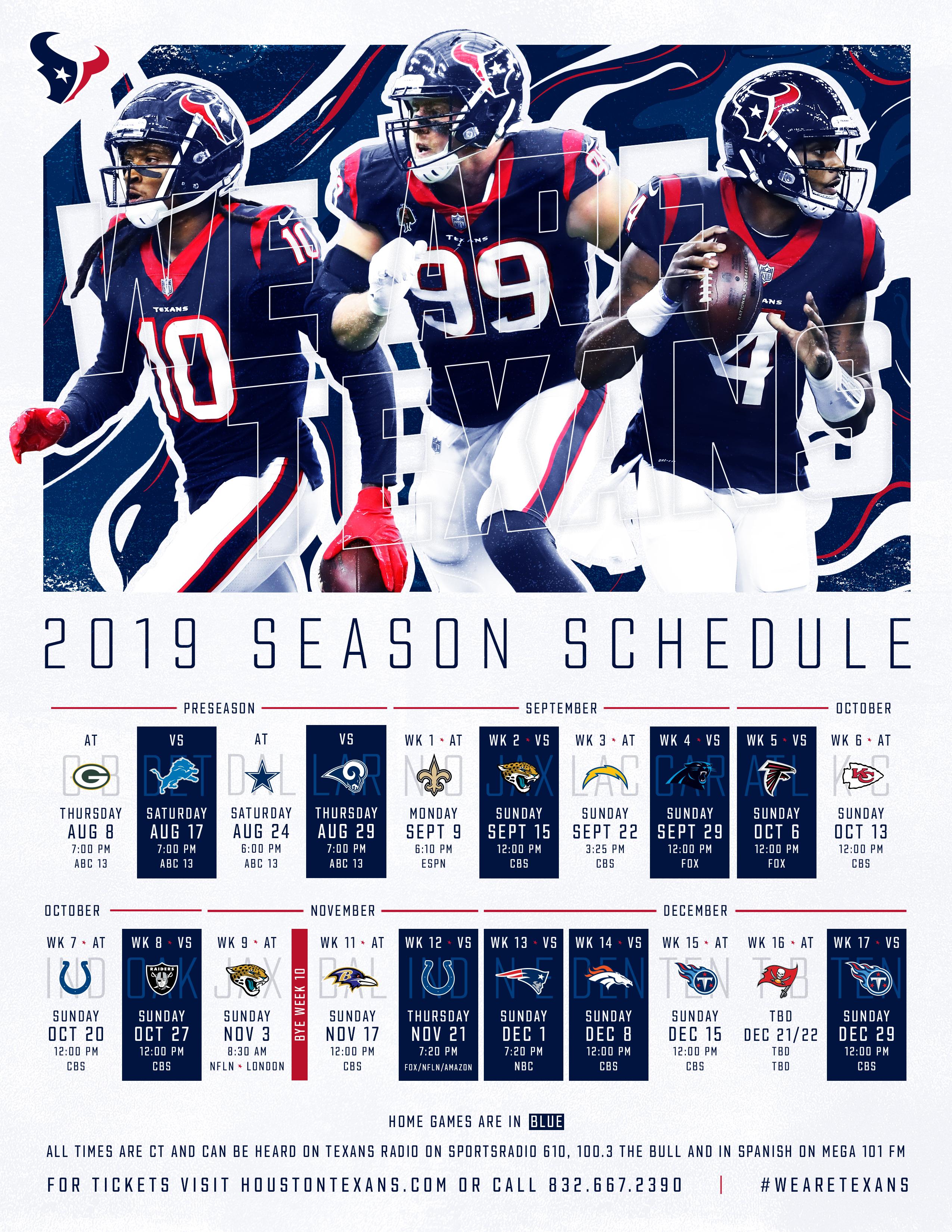 Texans Schedule | Houston Texans - Houstontexans