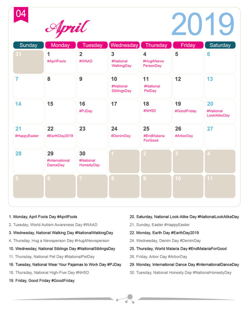 The 2019 Social Media Holiday Calendar - Make A Website Hub