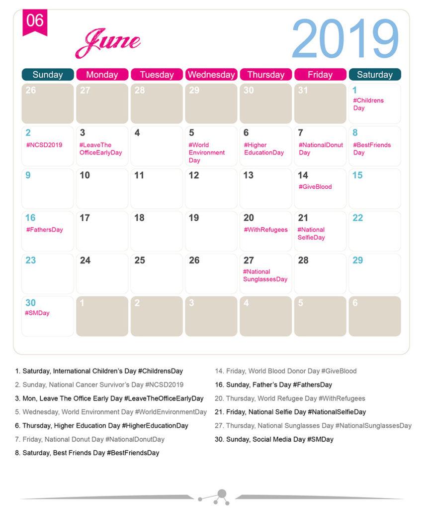 The 2019 Social Media Holiday Calendar - Make A Website Hub