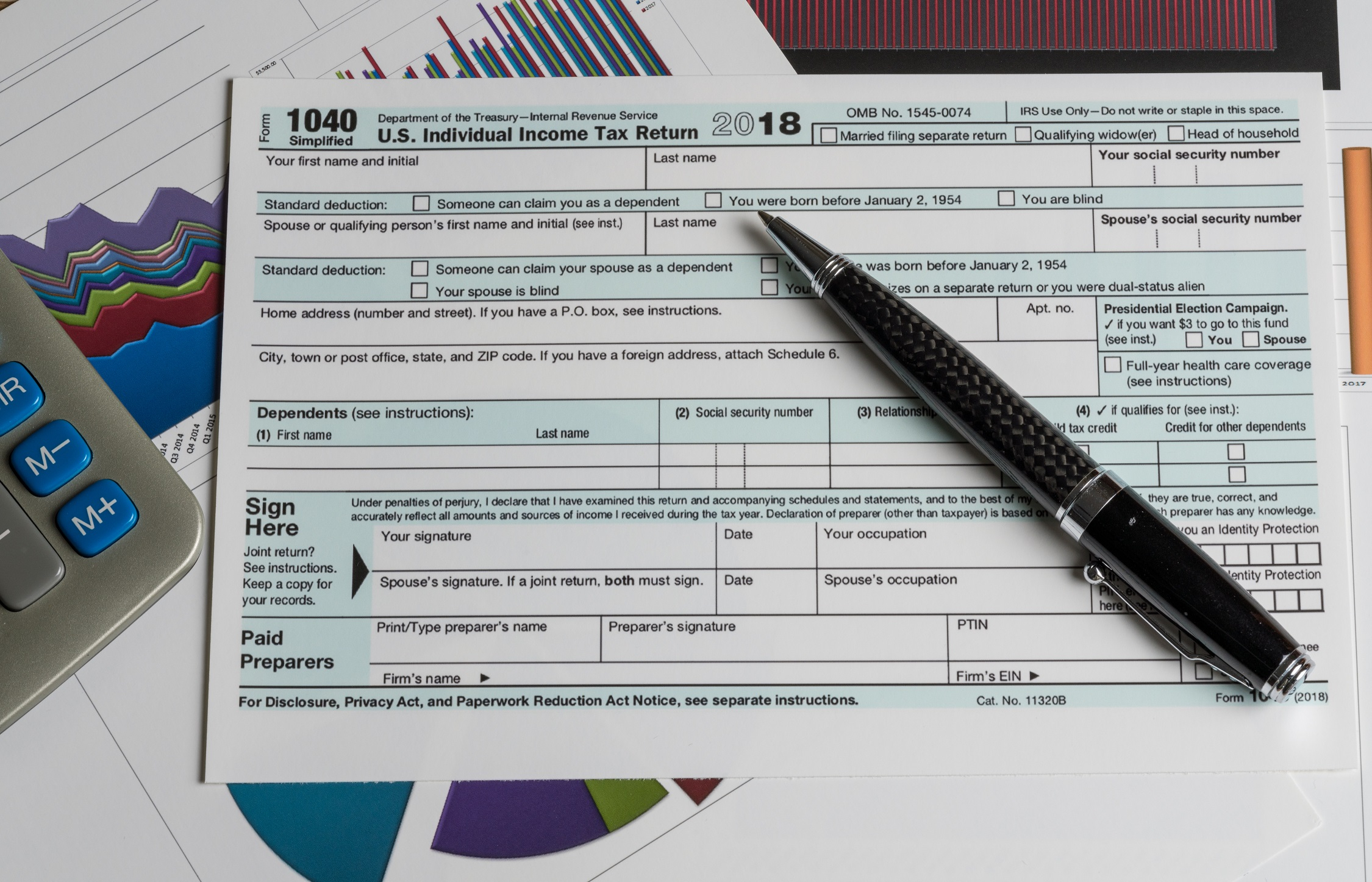 The New 1040 Form For 2018   H&r Block