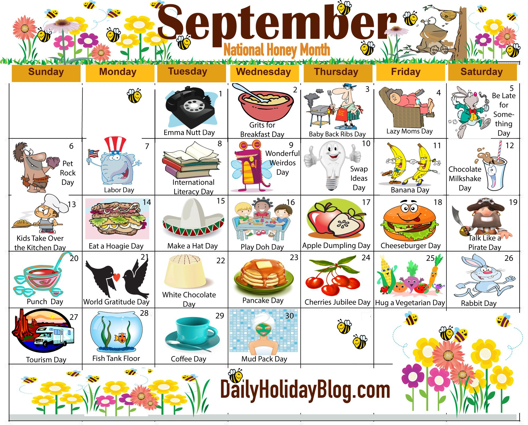The New Free September Holiday Calendar Is Available To