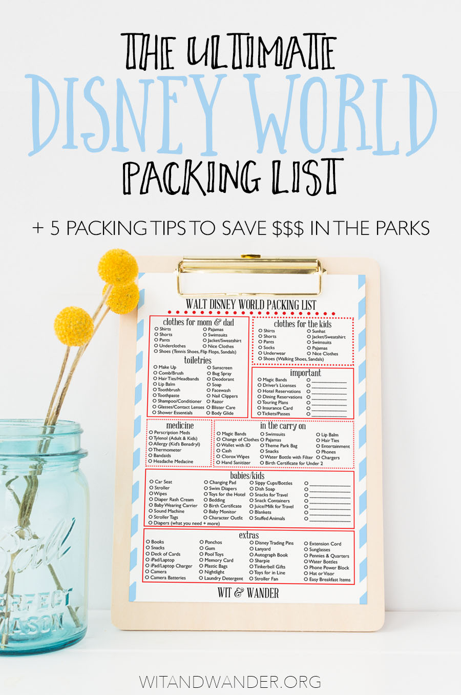 The Ultimate Disney World Packing List + Expert Packing Tips