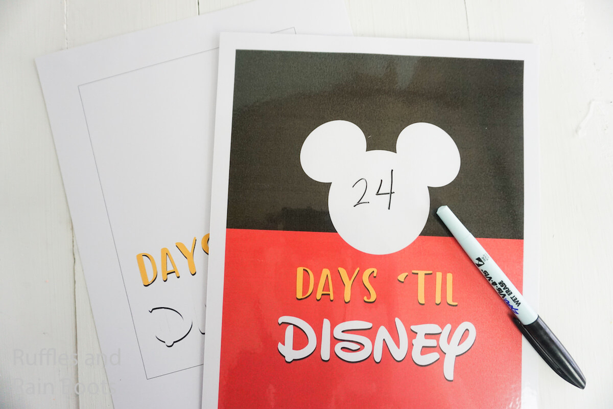 This Disney Vacation Countdown Printable Is So Fun!