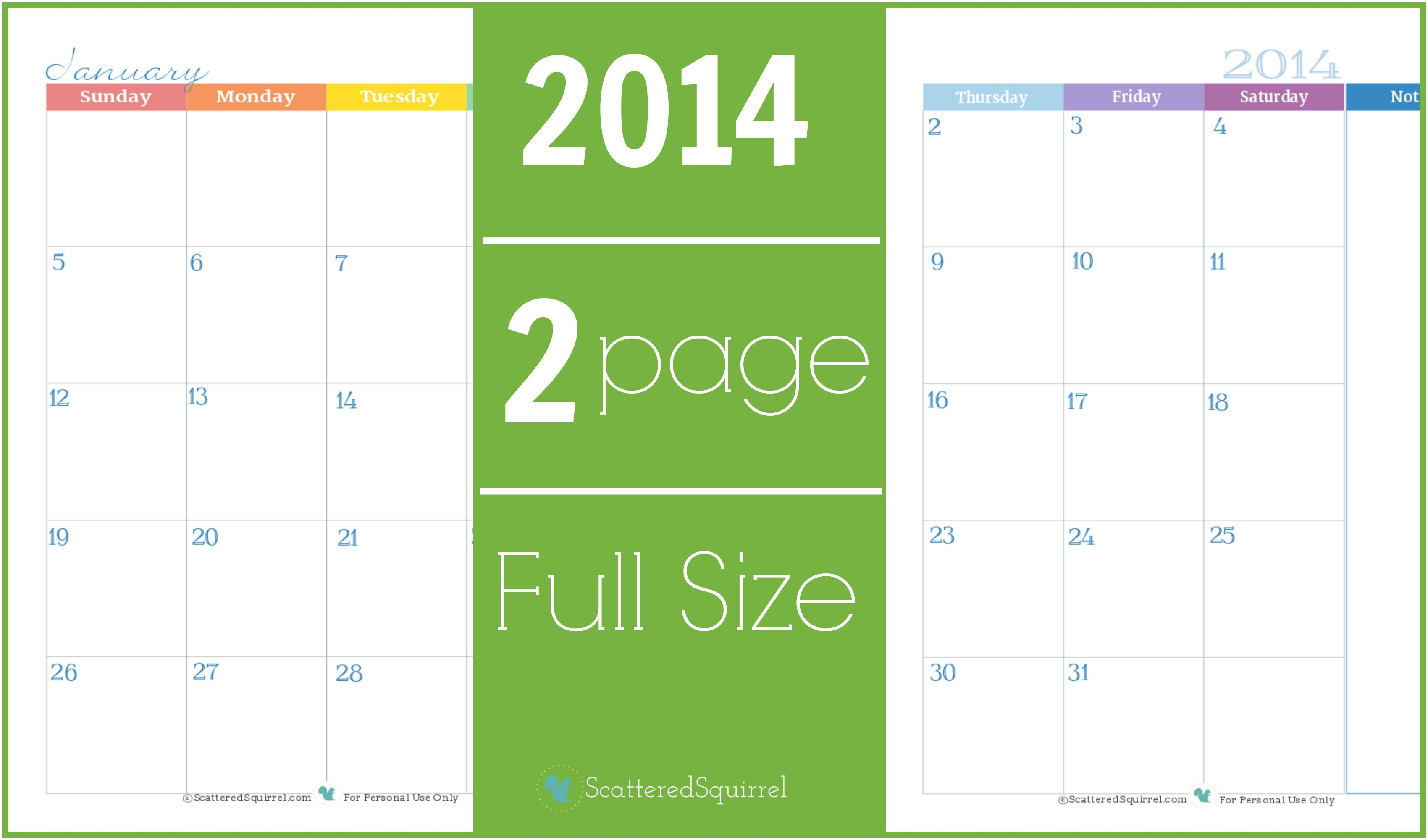 Two Page Monthly Calendar Template 6 Best Images Of 2 Month