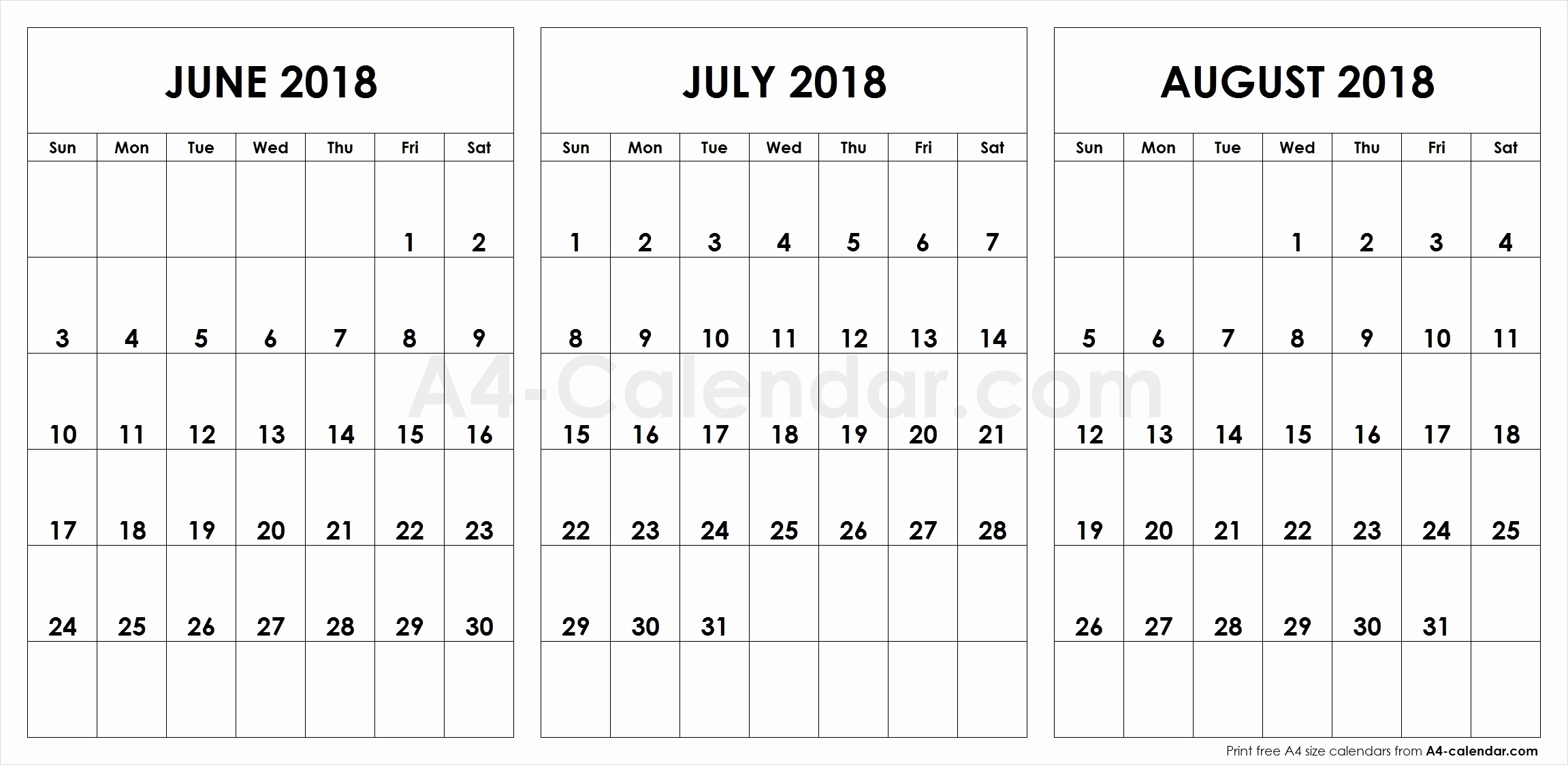Unique 45 Illustration June July And August Printable