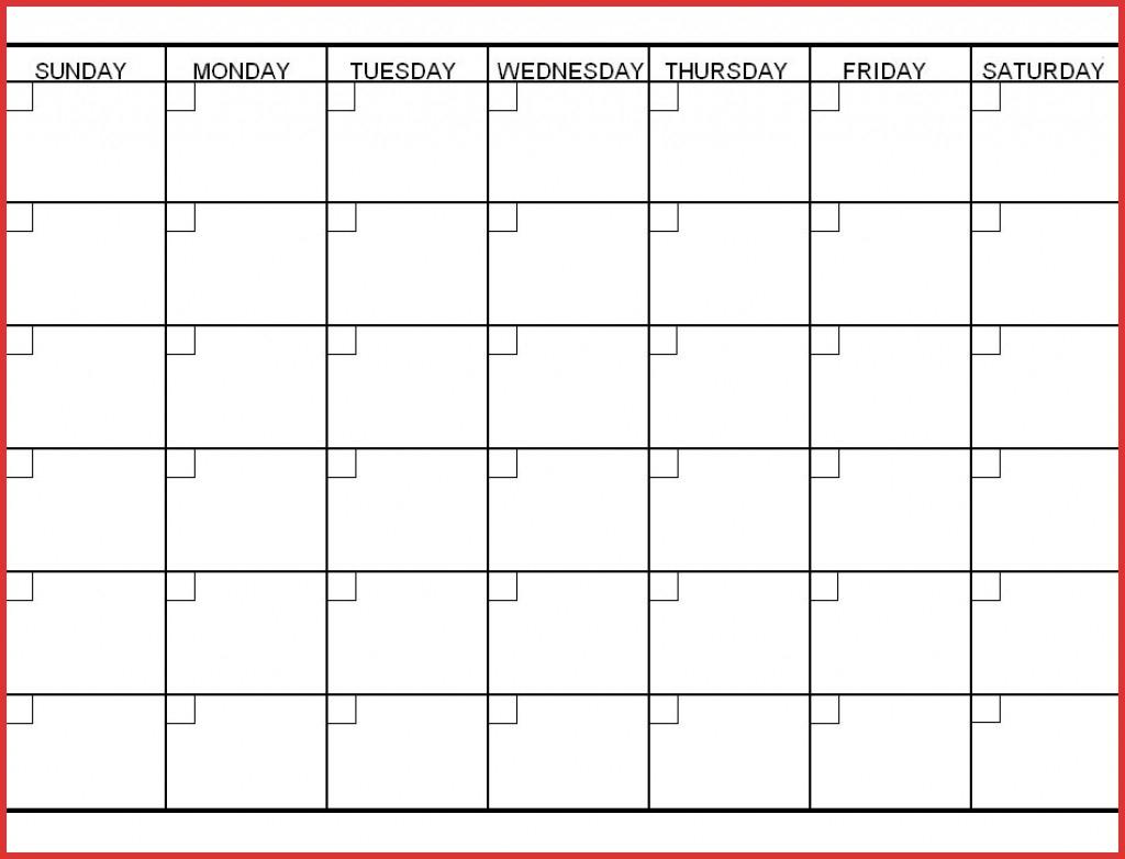Unique 6 Week Printable Calendar | Job Latter