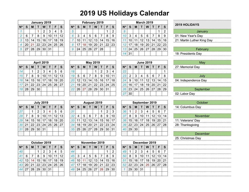 Usa Bank Holidays 2019 Calendar | A | Us Holiday Calendar