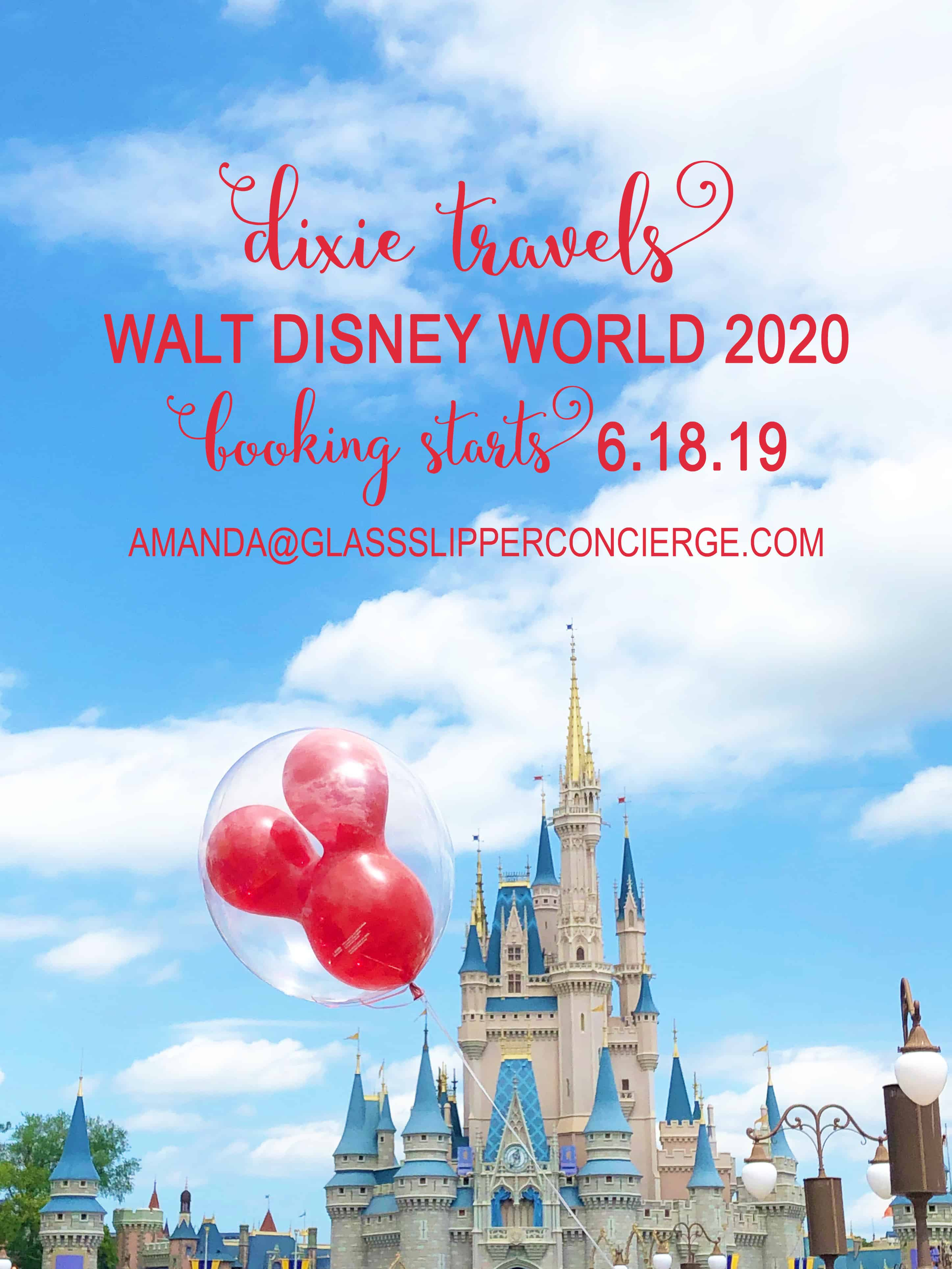Walt Disney World 2020: Booking Opens June 18 – Dixie Delights
