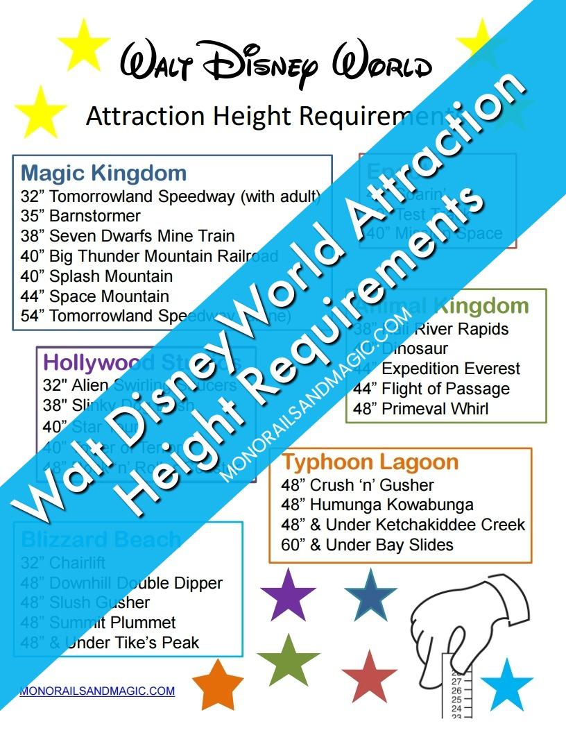 Walt Disney World Attraction Height Requirements