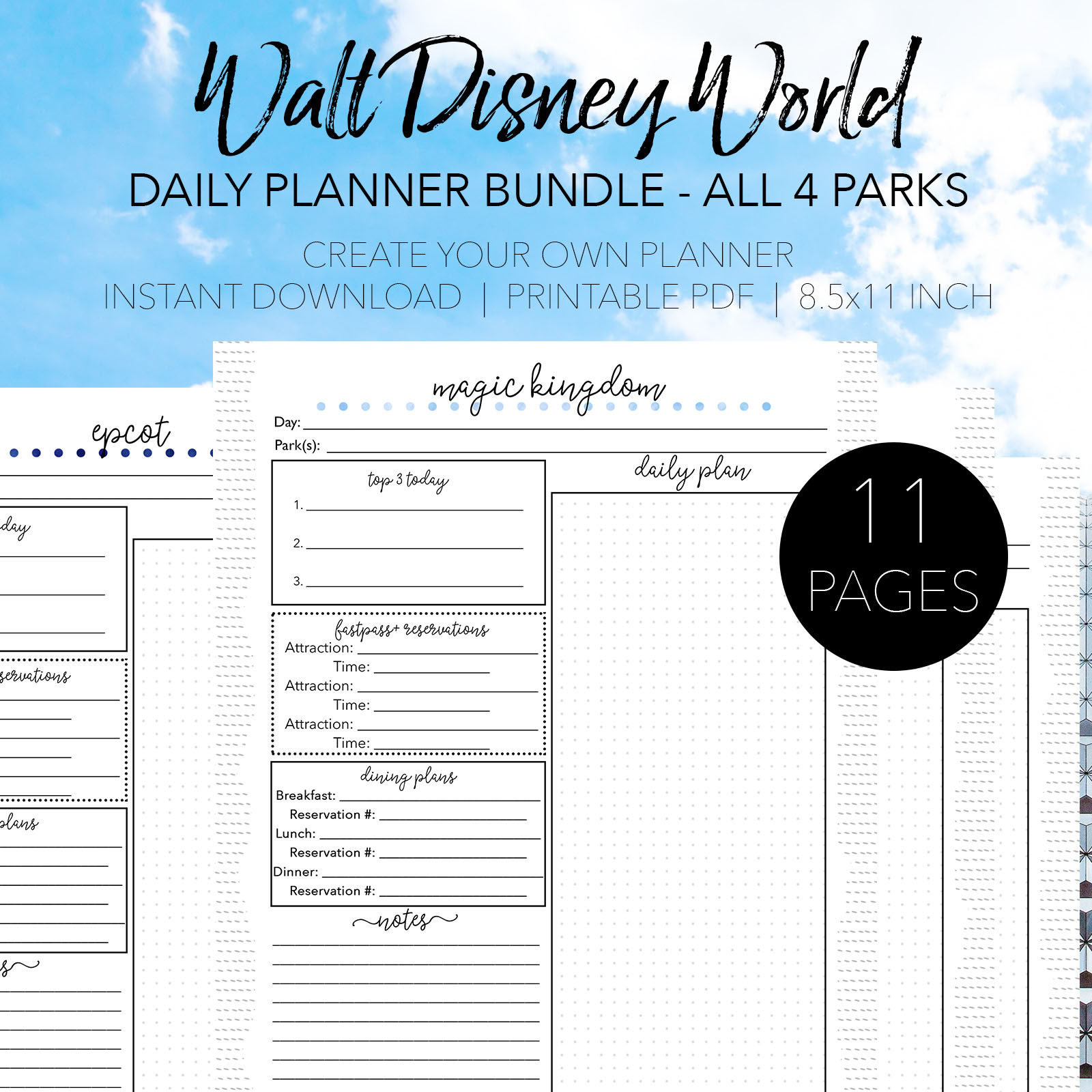 Walt Disney World Daily Planners