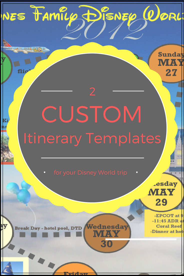 Wdw Itinerary Templates - Free & Printable - Available In