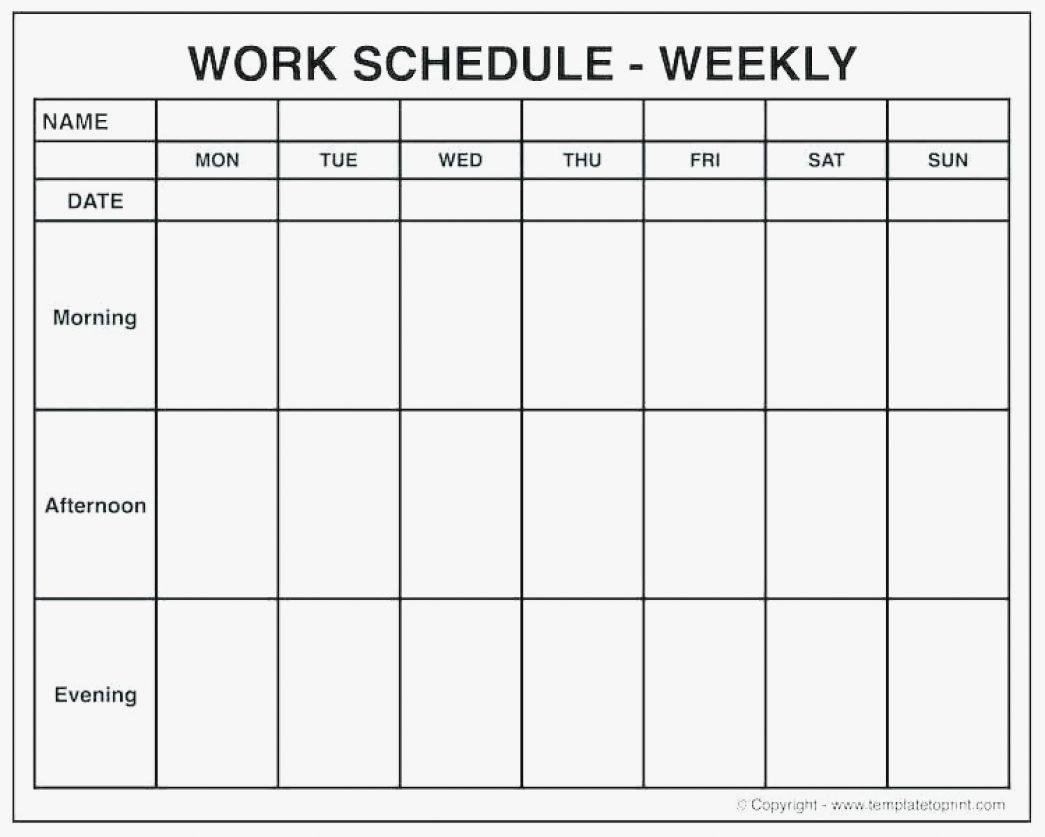 Week Calendar Blank With Time Slots | Template Calendar