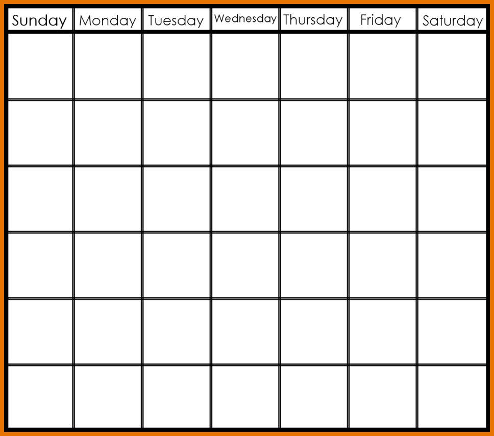 Week Calendar Template Printable Weekly Calendars Schedule