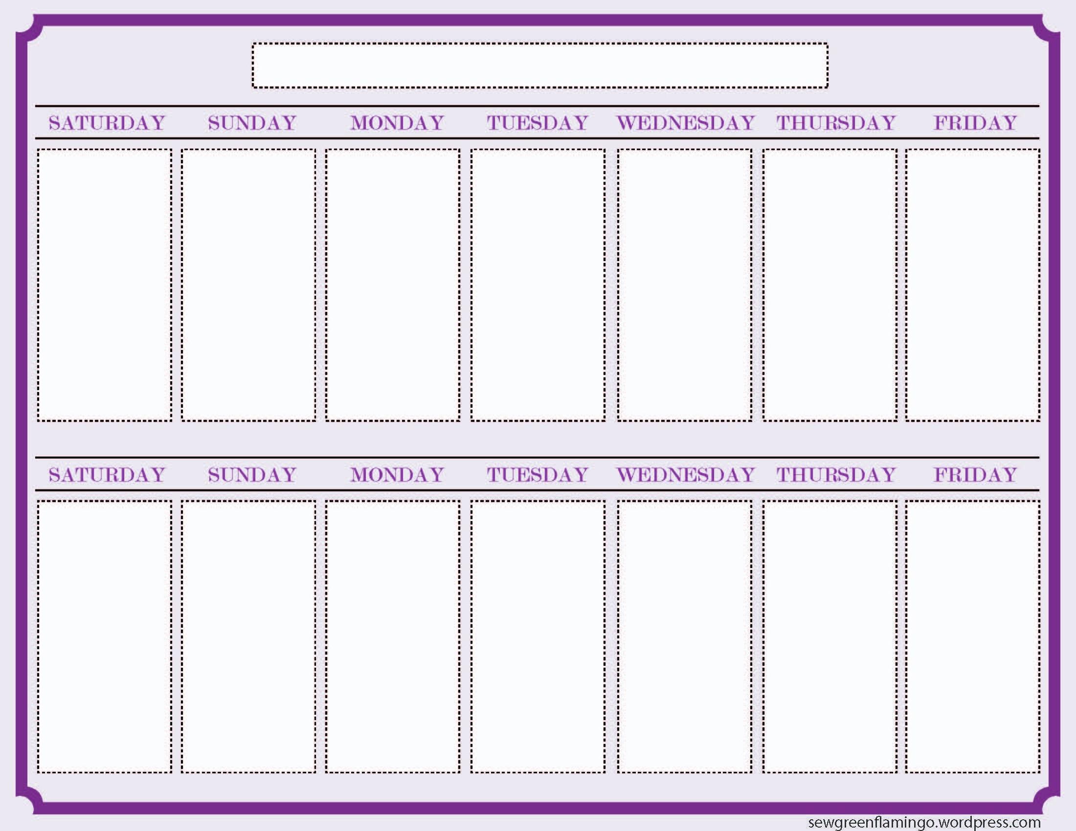 Week Schedule Template Excel Look Ahead Calendar | Smorad