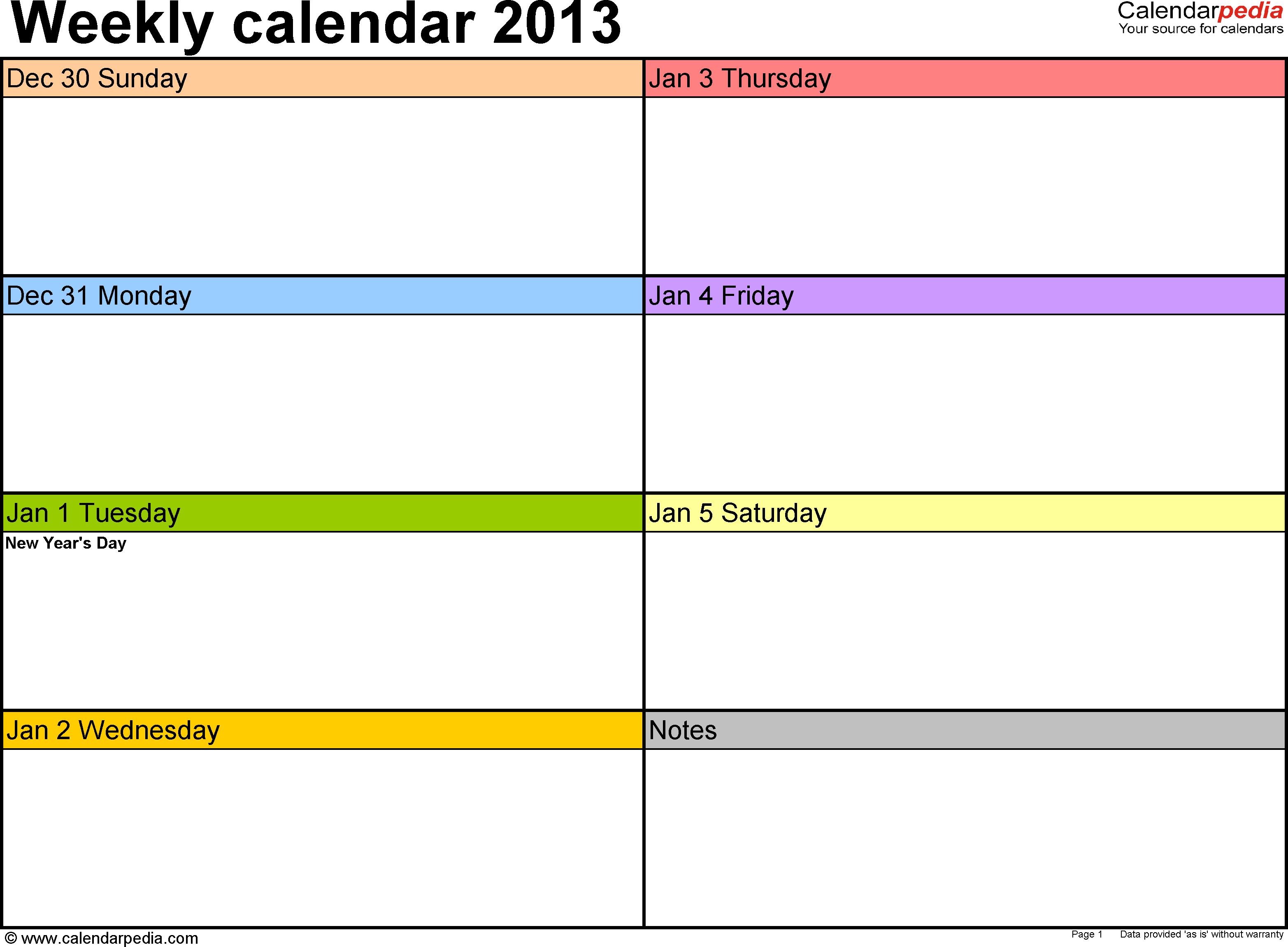 Weekly Calendar For Word Free Printable Plates Blank Plate