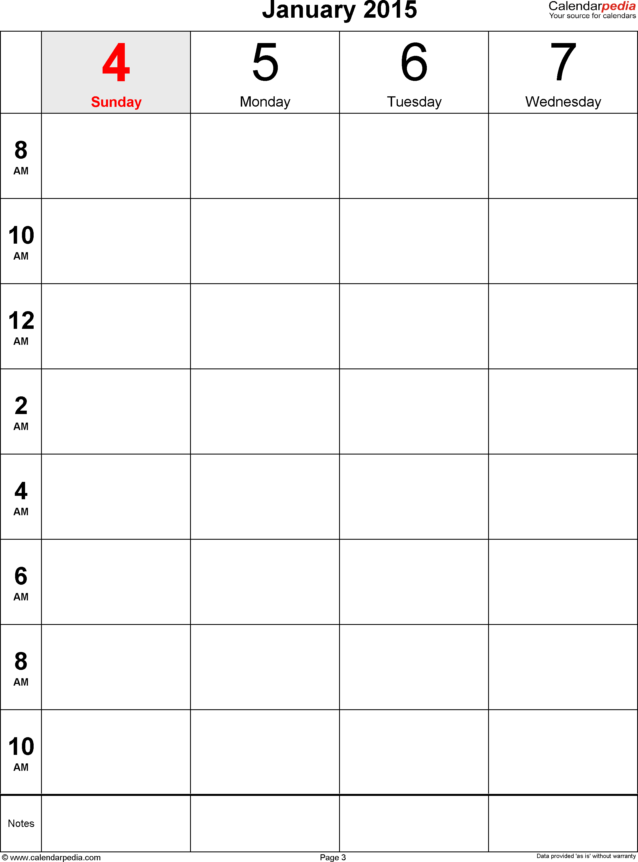Weekly Calendar For Word Free Printable Templates Schedule