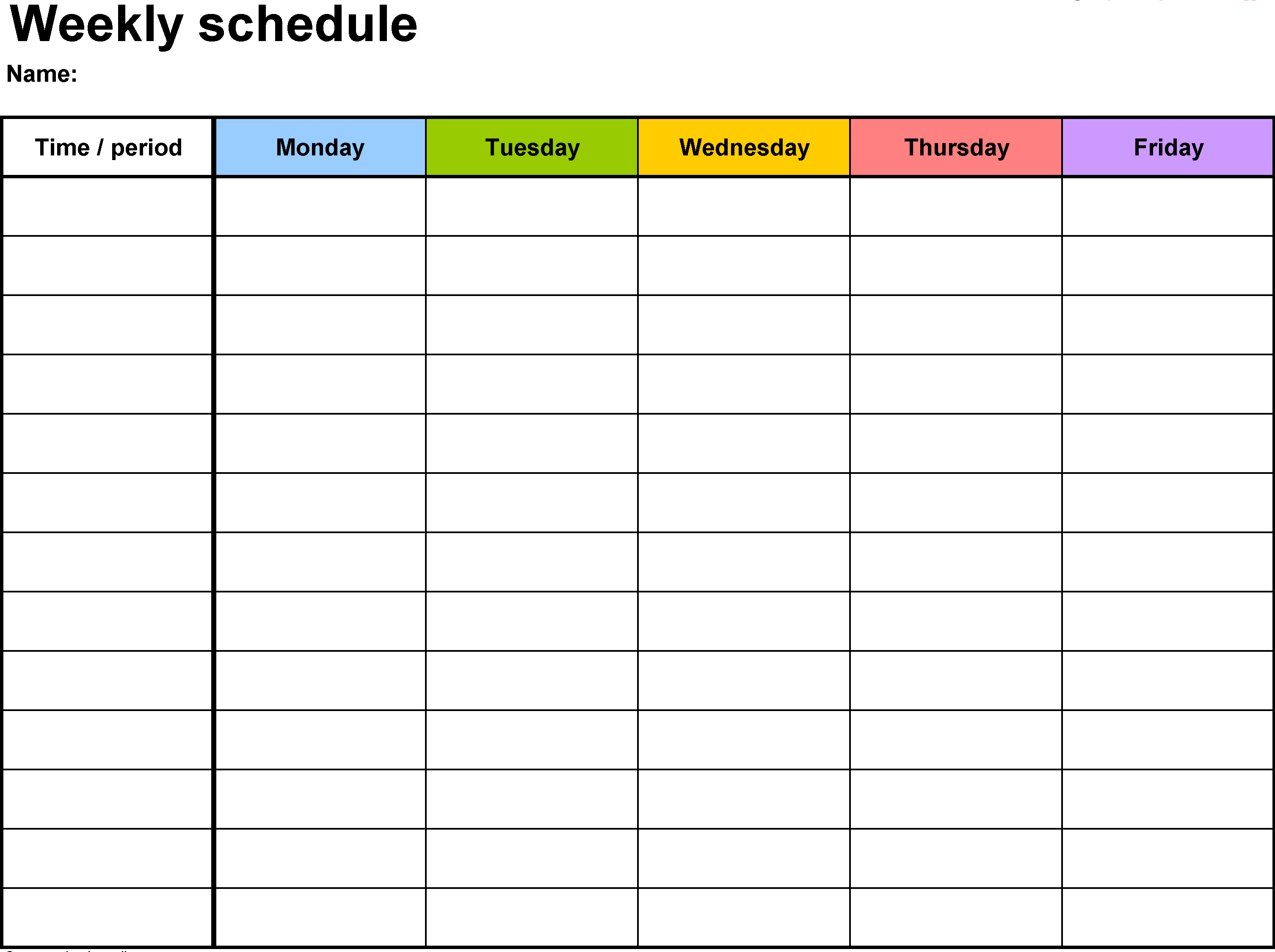 Weekly Calendar Template | Weekly Calendar Template - Word