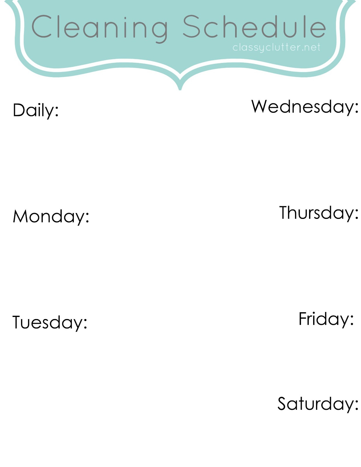 Weekly Cleaning Schedule: Improve Your Cleaning Habits