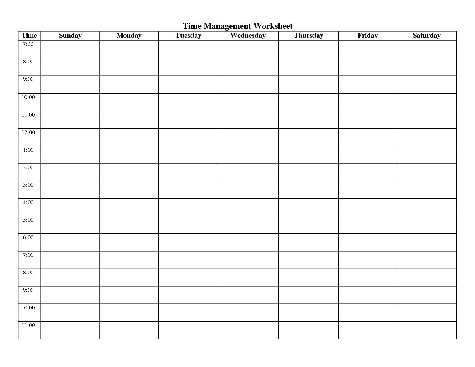 Weekly Hourly Planner Te Pdf Schedule Hour Excel | Smorad