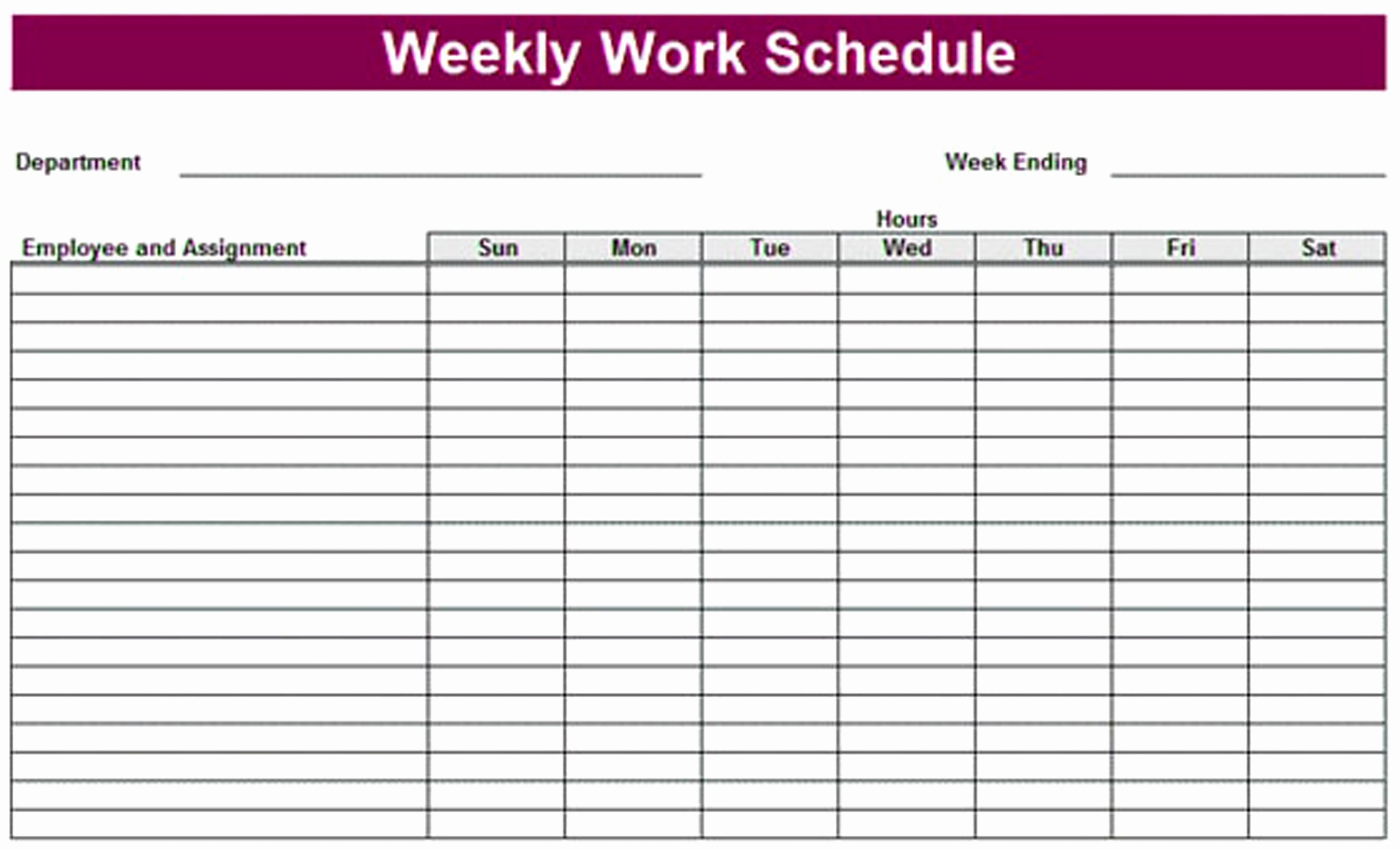 Weekly Schedule Printable And Template Cute E Pdf Cleaning