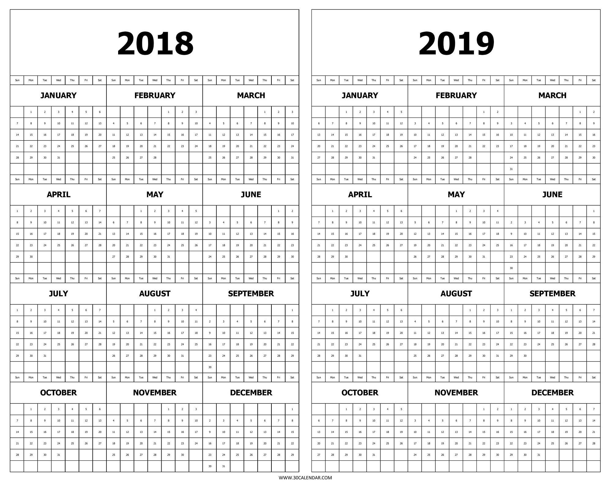 Year At A Glance Calendar Printable ~ Hd Calendar Printable