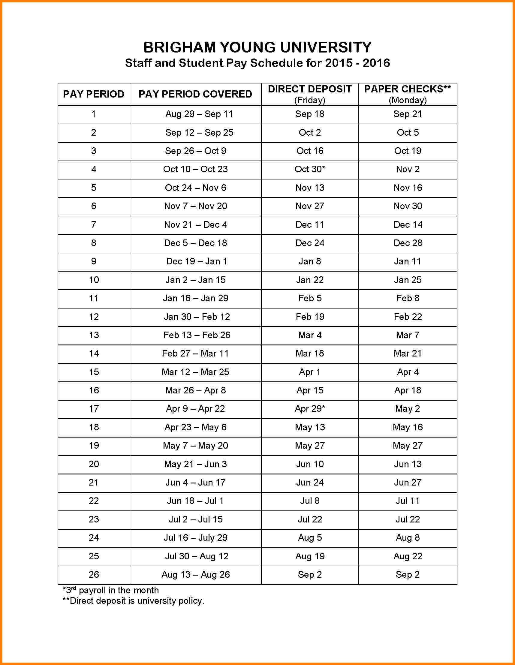 004 Template Ideas Biweekly Payroll Calendar Pay Schedule In