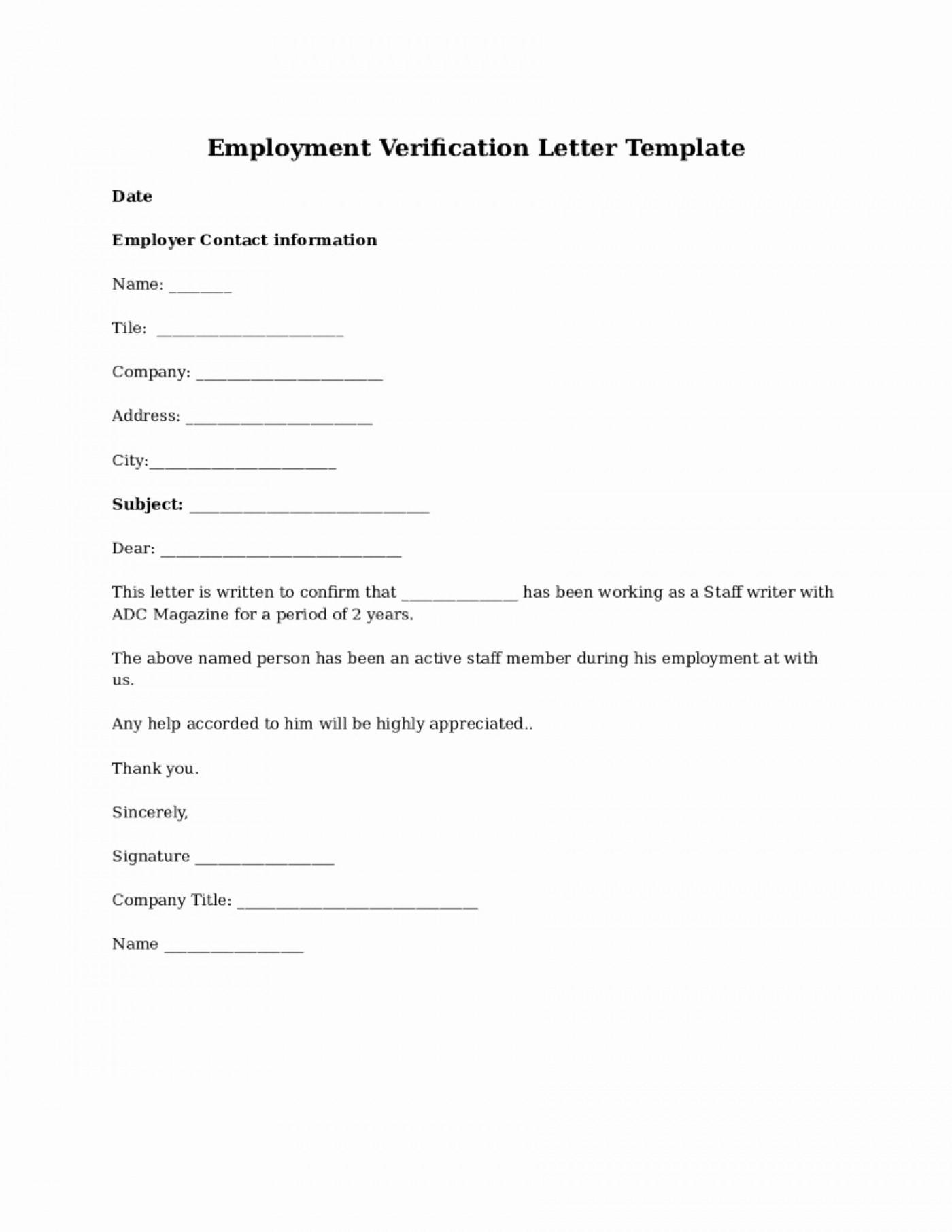 004 Template Ideas Employment Verification Form Walk In