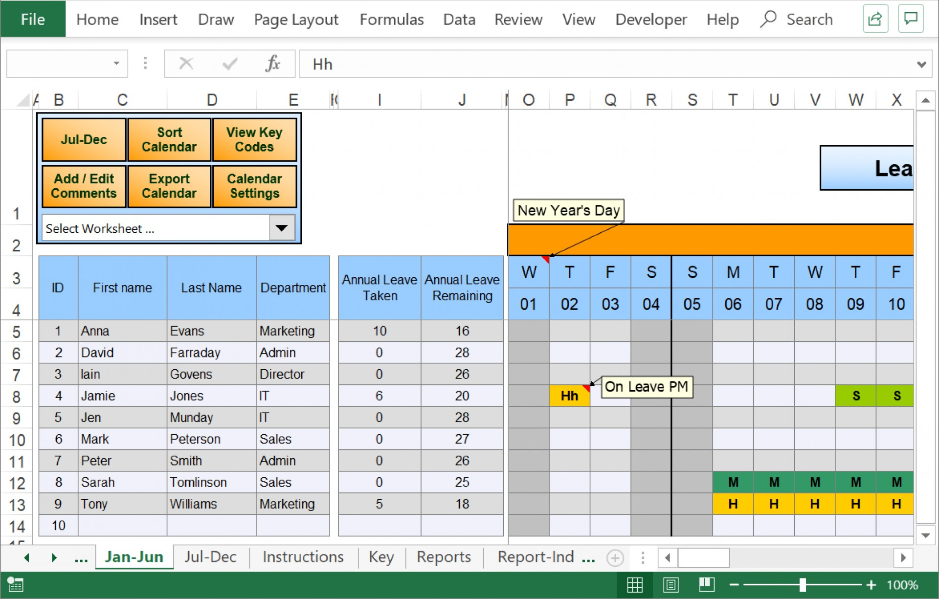 006 Employee Vacation Planner Template Excel Free Ideas