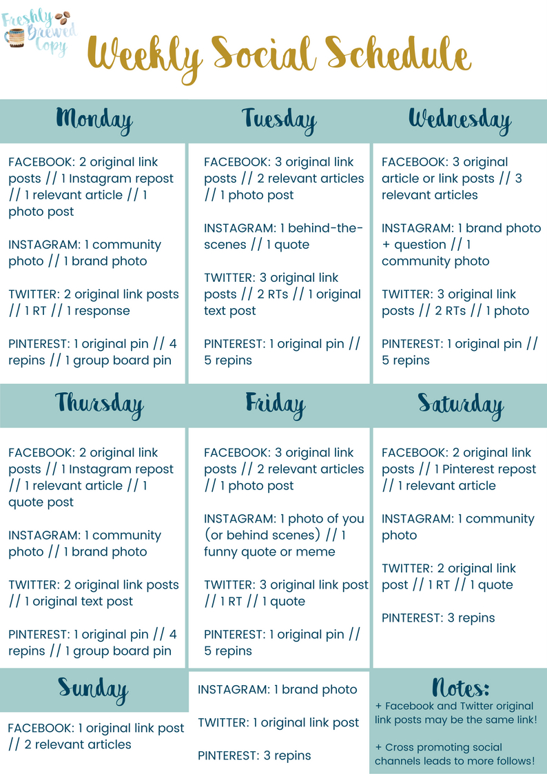006 Template Ideas Social Media Posting Unique Schedule Free