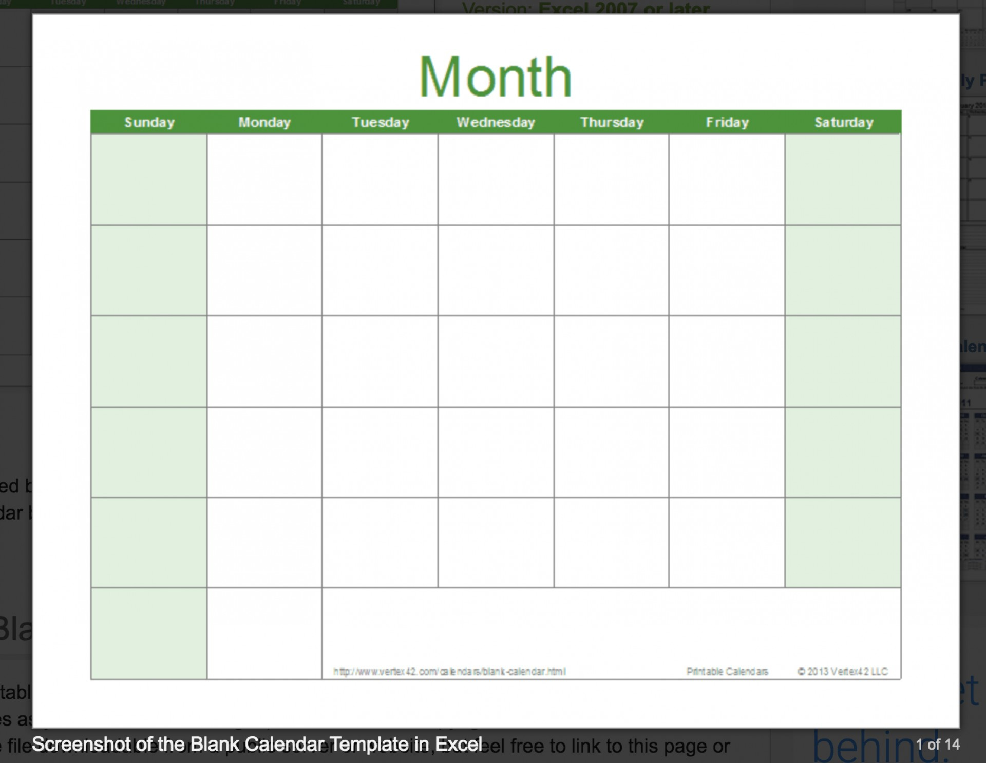 014 Free Download Excel Calendar Template Ic Printable