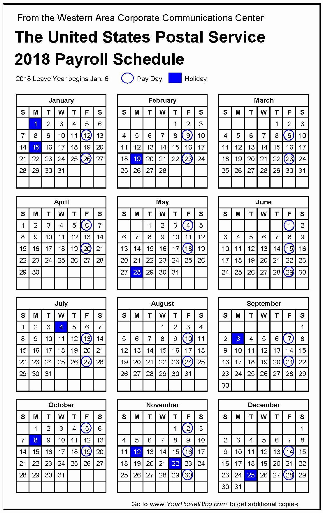 020 Biweekly Payroll Calendar Template Bi Weekly Pay Inside
