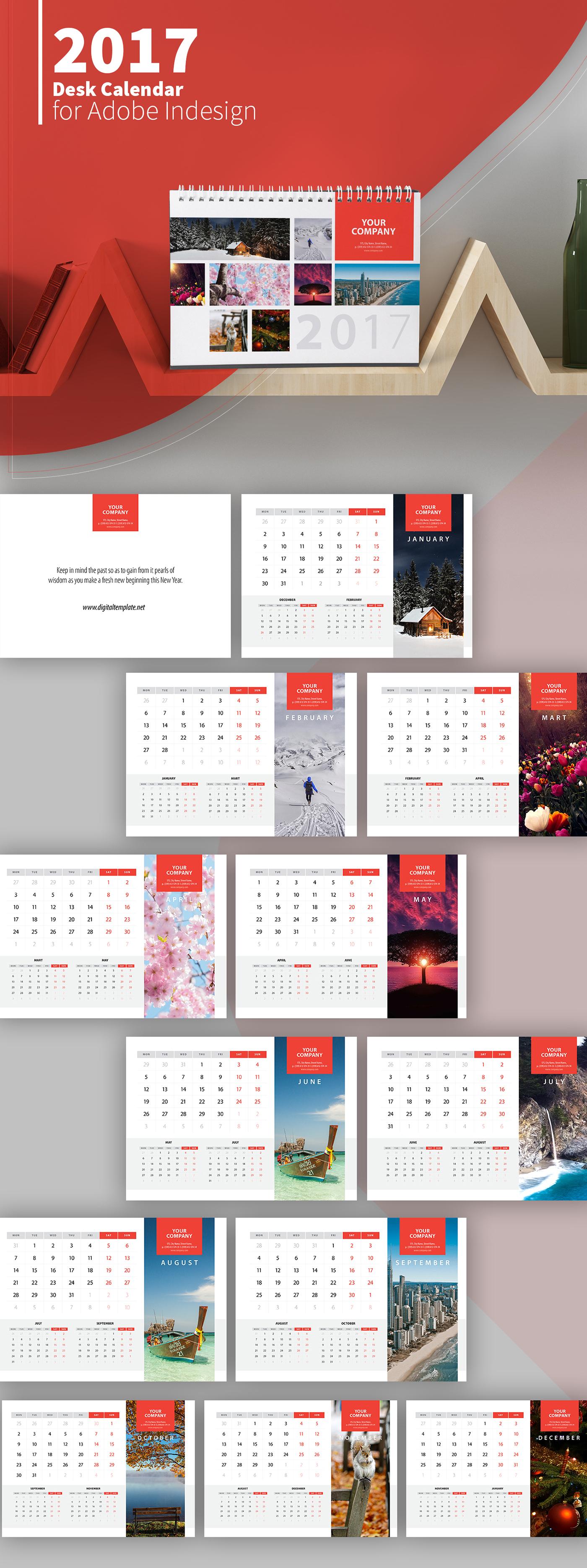 021 Indesign Calendar Template Download Free Ideas
