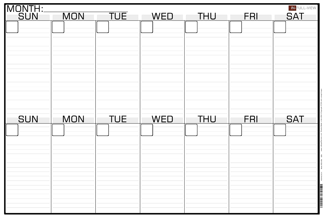 021 Two Week Calendar Template Monday To Friday Calendars
