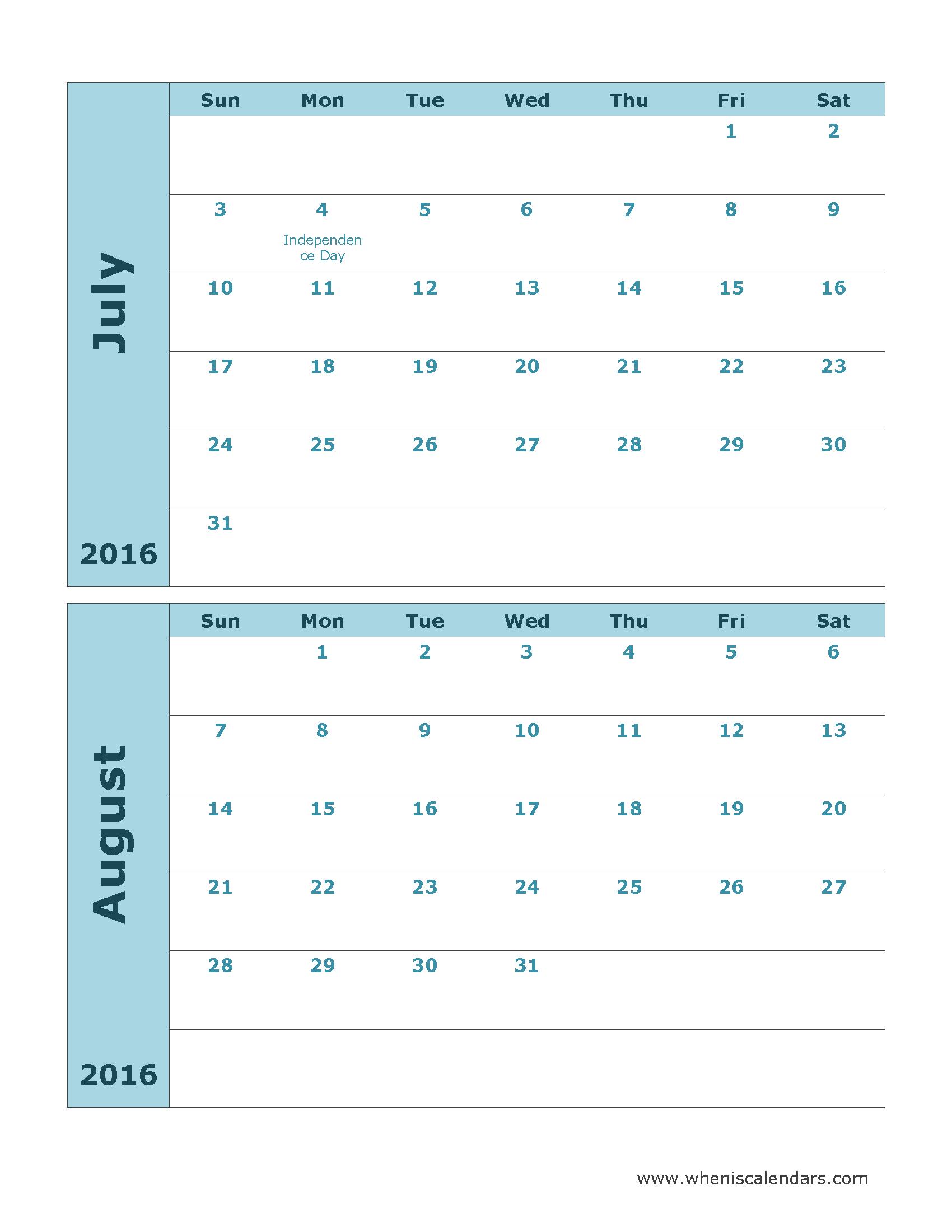 025 Template Ideas Blank Calendar July Wonderful 2016