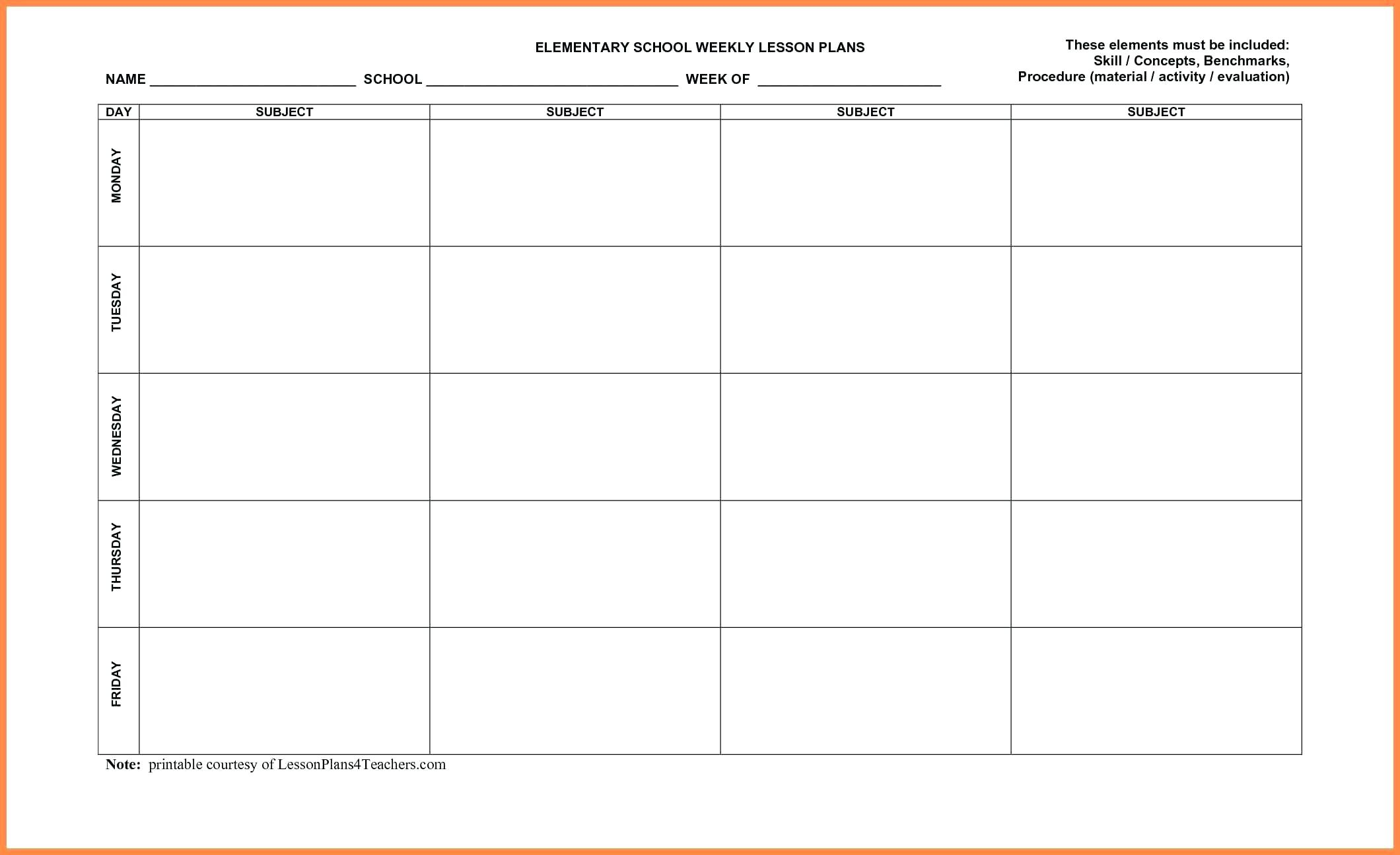 029 Template Ideas Plan Templates Free Lesson Plans