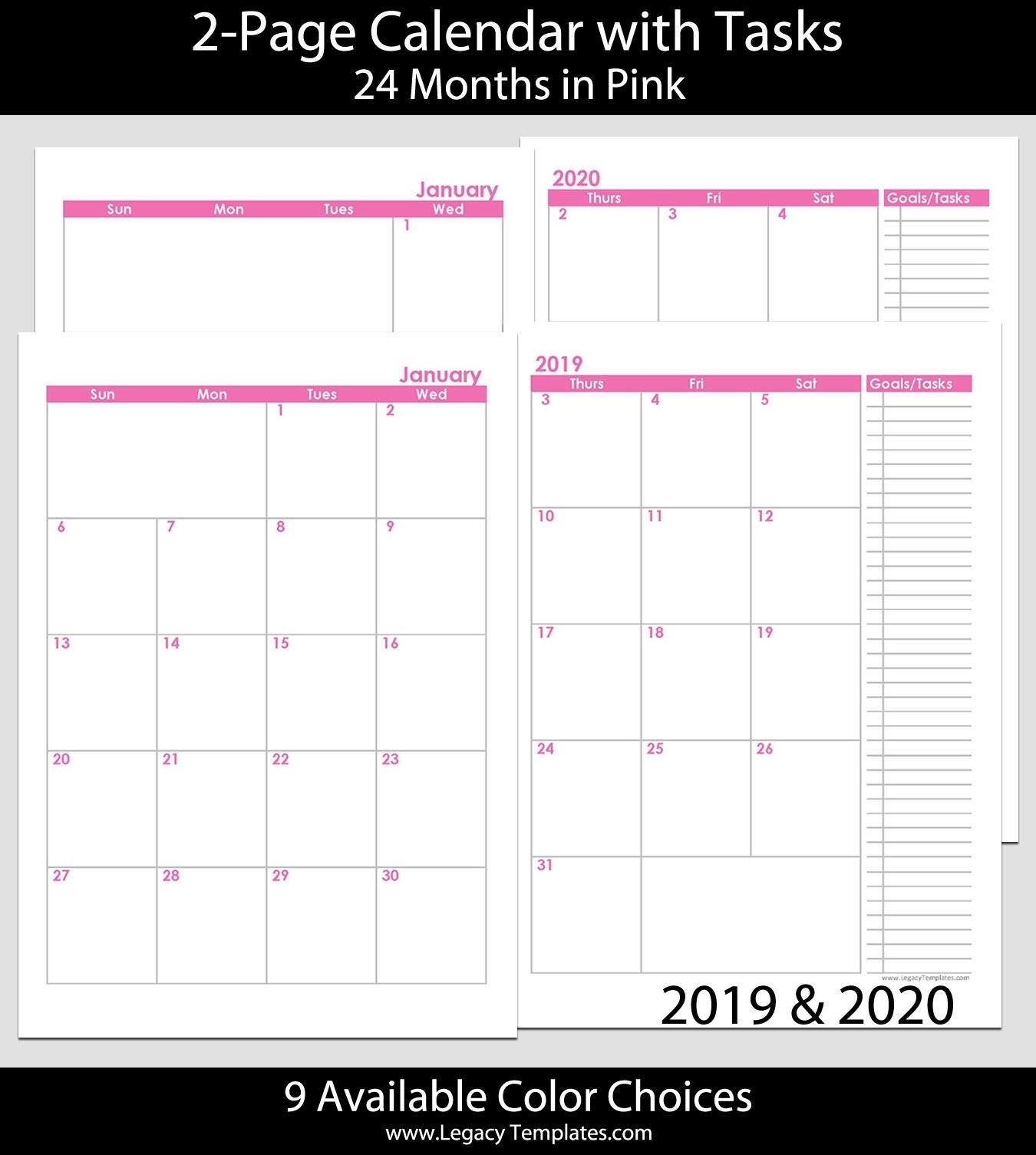 2 Page Calendar Template 2020 – Urgup.ewrs2018-Calendar