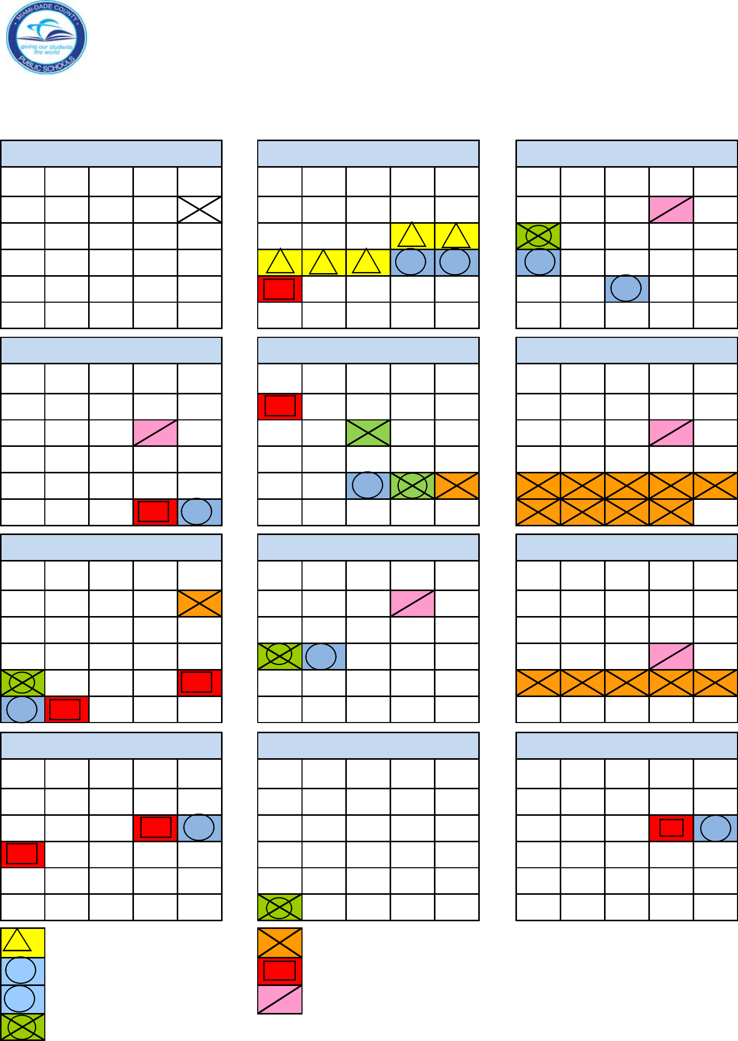 2015-2016 School Calendar - Dade County, Miami Free Download
