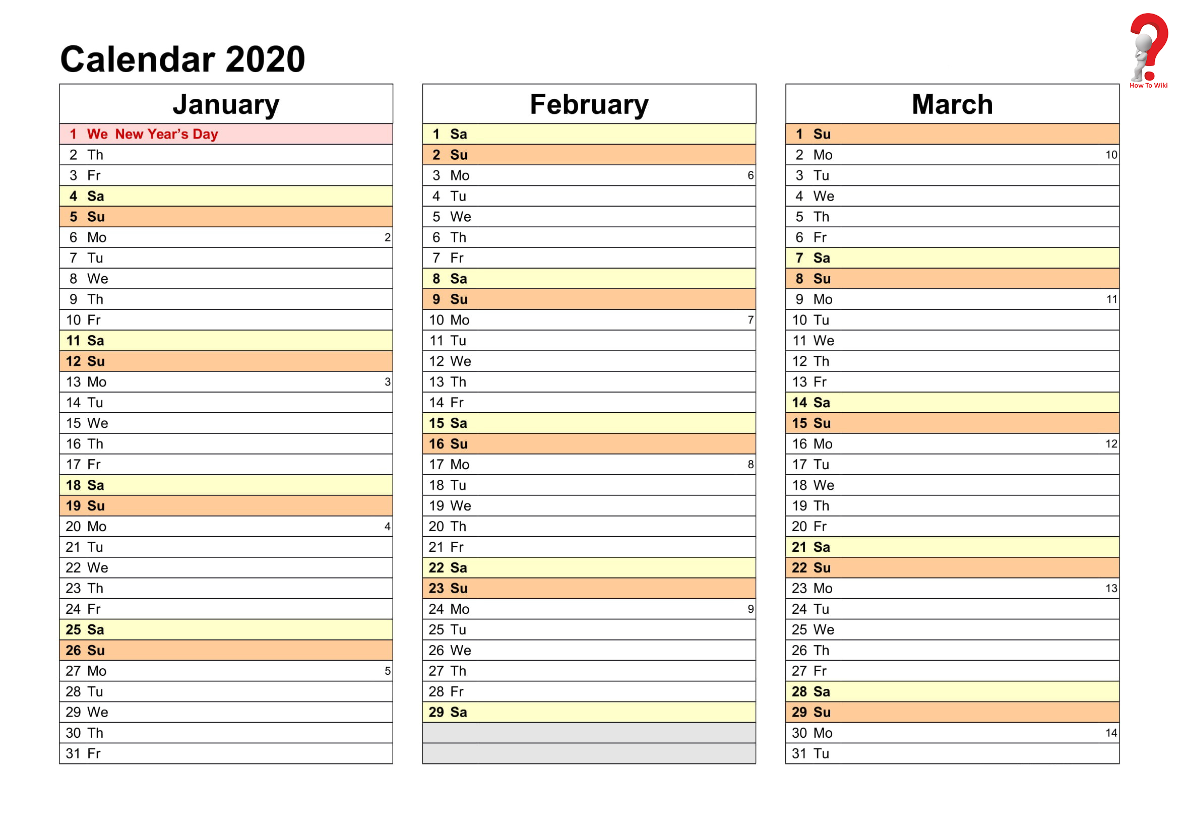 2019 And 2020 Yearly Planner In Excel | Free Printable